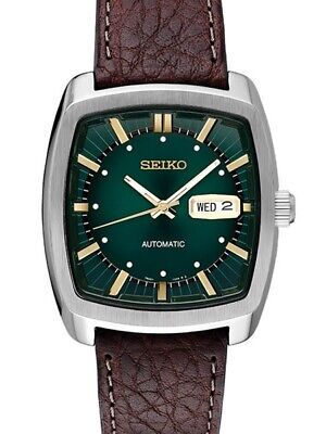$ CDN358.44 • Buy BRAND NEW Seiko Mens Recraft Series Automatic Green Dial Brown Band Watch SNKP27