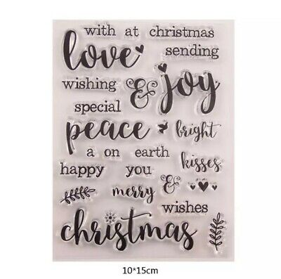25 Christmas Words Clear Stamps-xmas Greetings/sentiments Stamp-message-peace • 5.75£