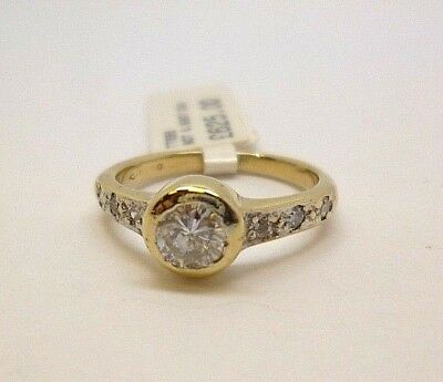 9ct Gold Engagement Ring 0.50ct Cut Diamond Solitaire Diamond Shoulders  • 625£