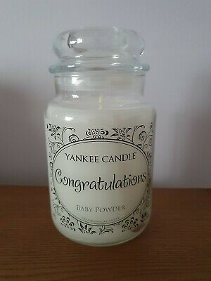 Yankee Candle Congratulations Baby Powder Large Jar Deerfield Label  • 37.99£