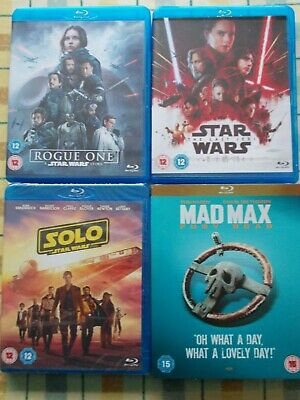 Collection Star Wars/mad Max~blu Ray. (2 New & Sealed 2 Vgc) • 15£