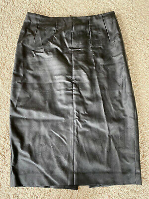 Oasis Faux Leather Knee Length Skirt Size 12 - Excellent Condition • 1.90£
