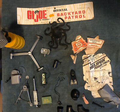 $ CDN91.45 • Buy Vintage GI Joe 60s 70's Huge Accessories Lot Weapons Tools & Clothes Outfits #1
