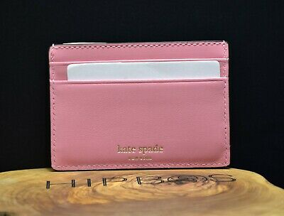 $ CDN46.04 • Buy Kate Spade Womens Adventure Fund Leather Card Wallet Holder Case Pink