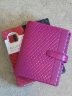 FILOFAX 2021 Boxed Adelphi Pink Deluxe Leather Pocket Organiser • 0.99£