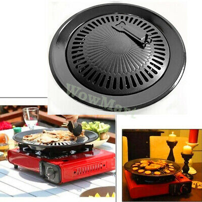 AU28.95 • Buy Korean Style Cooking Non-stick Barbecue BBQ Pan Grill Stovetop Plate Pan 32cm