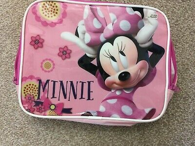Girls Minnie Mouse Fabric Lunch Box. Great Condition Only Used Once! • 2£