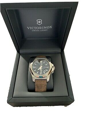 Victorinox Swiss Army I.N.OX Mechanical Black Dial Wooden Strap Men Watch 241836 • 235£
