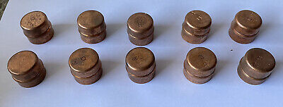 10 X 22mm Yorkshire Copper Cap End Blanks • 9.50£