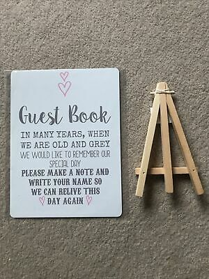 £6.50 • Buy A5 Guest Book Wishing Tree Hearts Drop Box Metal Table Sign Wedding Party