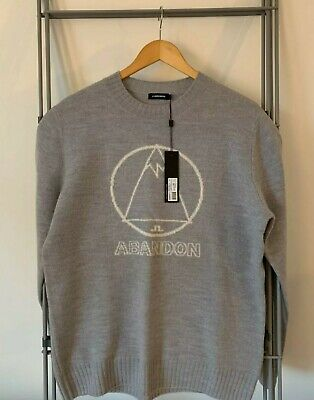 Brand New Men's J.Lindeberg Grey Knit Ski Jumper Medium (M) NO RESERVE • 55£