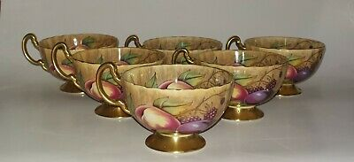 Aynsley Orchard Gold Pattern Set Of Six Tea Cups. • 51£