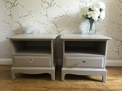 Stag 1 Drawer Bedside Tables Cabinets Laura Ashley French Grey Shabby Chic • 16£