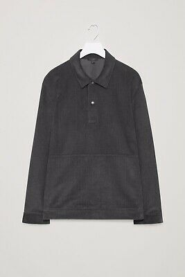 COS Corduroy Pullover Shirt In Grey (size: Small) • 1.04£
