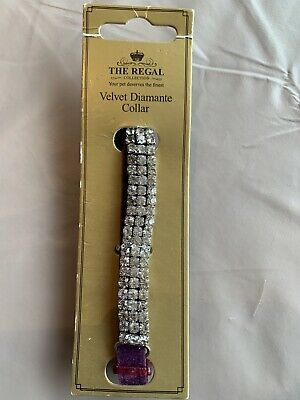 Velvet Diamante Cat Collar The Regal Collection New • 4.99£