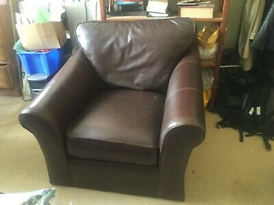 Marks And Spencer Leather Armchair Brown Couch Settee • 75£