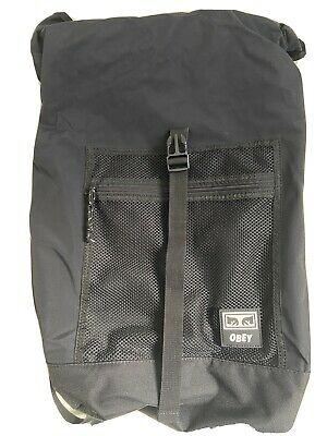 OBEY Clothing Conditions Roll Top Backpack Black • 25£