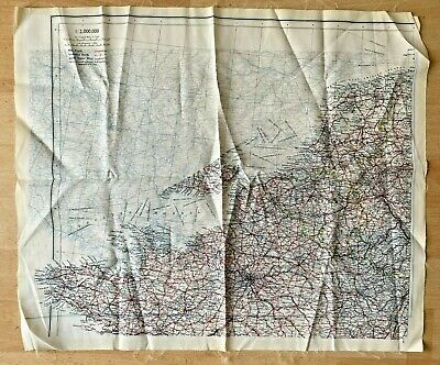 Original Ww2 Escape Map As Used By Soe, Raf & Special Forces. Exc.france Etc. • 100£