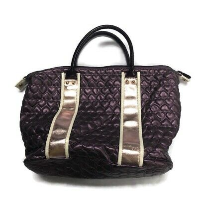 £11.32 • Buy Justin Bieber Purple Heart Quilted Hand Bag Purse Tote Someday Perfume Pink