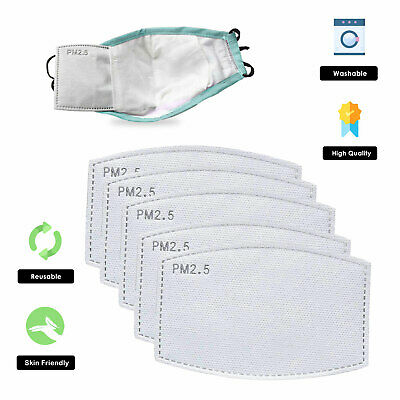 £3.29 • Buy PM2.5 FILTER For Face Mask Washable Reusable Cotton Activated Carbon Replace Lot
