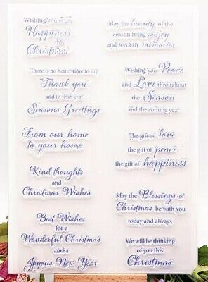10 Christmas Messages Clear Stamps/xmas Sentiments/greetings/statements-card  • 6.50£