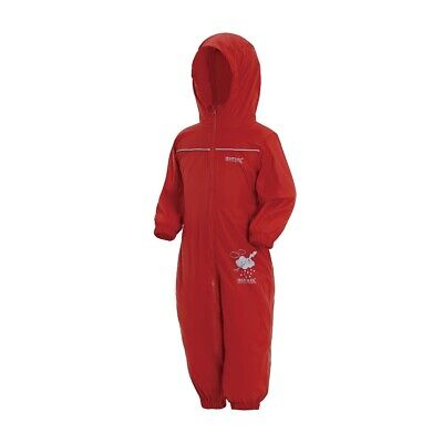 Regatta Kids Puddle IV Waterproof Splash Suit Rain Suit Pepper Red • 21.95£