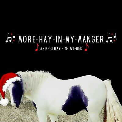 £2.99 • Buy Horse / Cob / Gypsy Vanner / Piebald / Mare Christmas Card - % To Charity