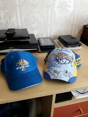 Leeds Rhinos Signed Caps. Ryder Cup And Official  • 35£