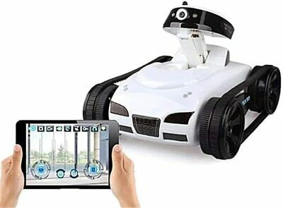 I-Spy Mini - Real-time Transmission Video WiFi Tank RC Car With Camera Toy Bianc • 25.95£
