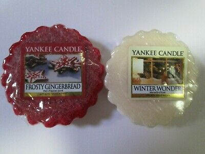 2 Yankee Candle Wax Melt Tarts Frosty Gingerbread & Winter Wonder. • 0.99£