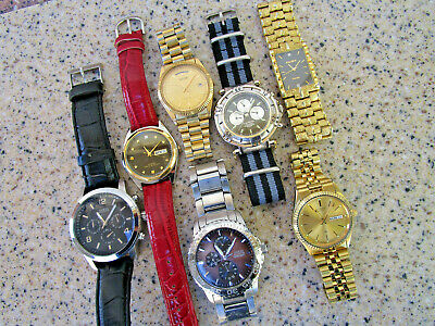$ CDN39.19 • Buy Vintage Mens Watch Lot Collection All Run Guess Fossil Citizen Phasar Elgin ++