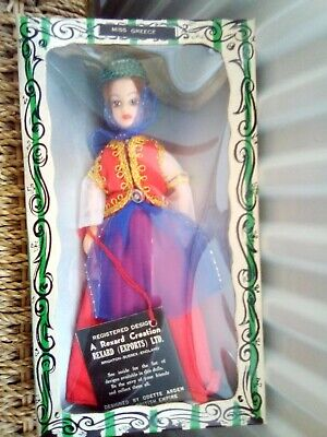 Vintage Miss Greece Rexard Costume Doll • 9.99£