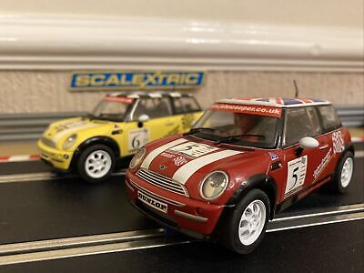 Scalextric 2 Mini Coopers From John Cooper Challenge Set (Mint Condition) • 75£