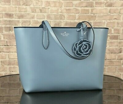 $ CDN134.15 • Buy Kate Spade New York Patti Leather Tote Shoulder Bag Purse $329 Blue