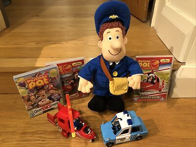 Postman Pat Toy Bundle. Pat, Jess, Figures, Police Car, Helicopter And 3DVDs • 19£