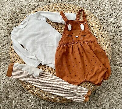 Next Baby Girls 12-18 Months Outfit, Romper / Dungarees, Bodysuit, Tights,  • 5£