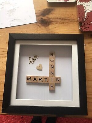 Personalised Scrabble Pictures Mother's Day, Love, Name, Surname, Home, Family • 12£
