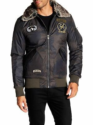$69.99 • Buy X-Ray Men's Slim Fit Flight Jacket With Removable Faux Fur Collar Coat Camo M