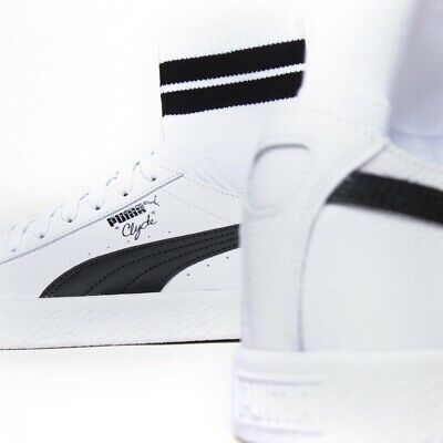 Puma Clyde Sock White Black NYC New York City UK 7.5 US 8.5 EUR 41 Suede Basket • 24.95£