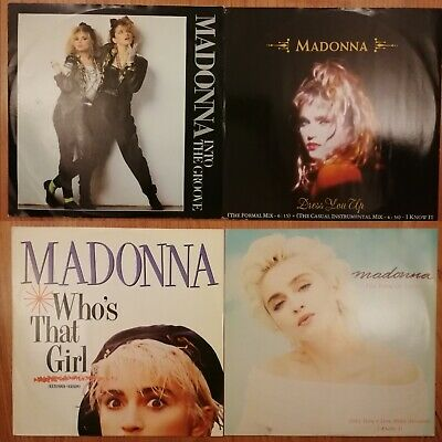 Madonna Into The Groove,Dress You Up,Who's That Girl,Look Of Love 4x 12  Vinyl • 9.99£