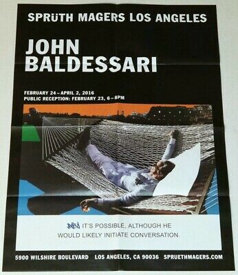 JOHN BALDESSARI EXHIBITION ART PRINT POSTER 2016 CONCEPTUAL LOS ANGELES Painting • 823.54£