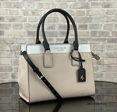 $ CDN170.17 • Buy KATE SPADE CAMERON LEATHER SATCHEL CROSSBODY SHOULDER BAG PURSE $399 Beige