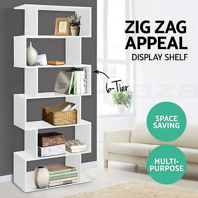 AU118.95 • Buy 6 Tier Display Cabinet Bookcase Display Shelf Storage Cabinet Shelves Display
