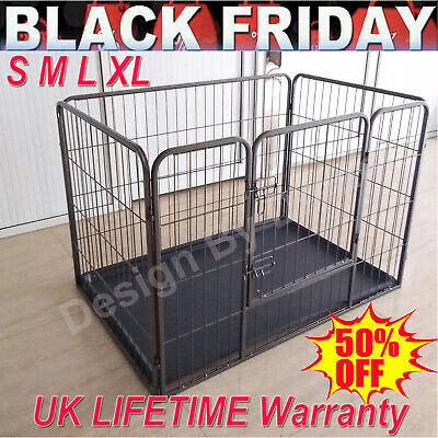 Heavy Duty Puppy Play Pen Dog Crate Whelping Box Rabbit Enclosure Dog Run Cage • 64.90£