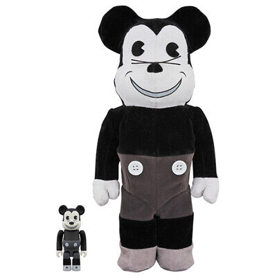 $526.21 • Buy Bearbrick Be Rbrick Mickey Mouse Vintage B W Ver. 100 400