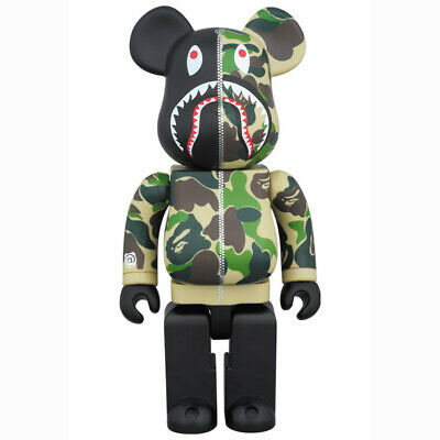$953.08 • Buy Be Rbrick Bape Camo Shark Green 400 Hoodie Bearbrick Parker 2015 Edition