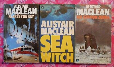 Alistair MacLean Bundle // 3 Books (Fear Is The Key / Seawitch / Ice Station) • 10£