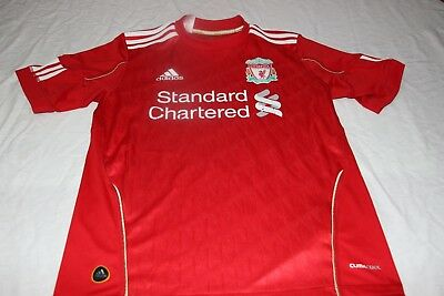 T-Shirt Liverpool Brand Adidas Size XS Advertising Standard Chartered Shirt • 8.85£