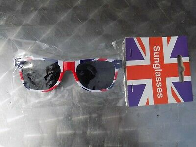 Brand New Union Jack Novelty Sunglasses Width 14.5 Cm, Mens Or Womens • 4£