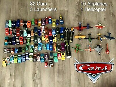 ➡️Disney Cas: 82 Cars + 3 Launchers + 10 Airplanes + 1 Helicopter | Free Postage • 170£